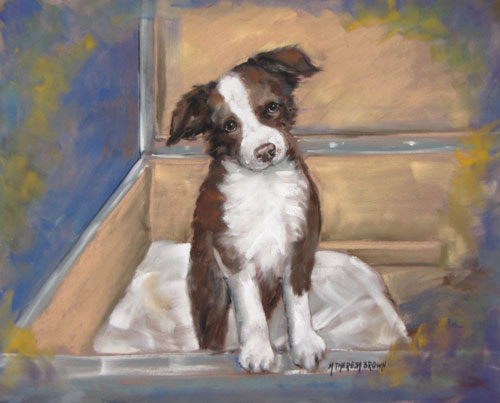 Pastel Portrait of Rescue Dog