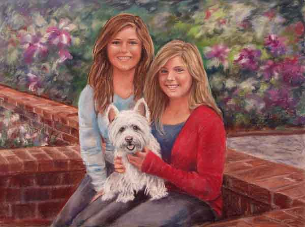 pastel portrait Jones Girls