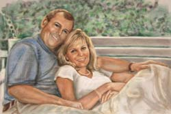 Pastel Portrait of Couple