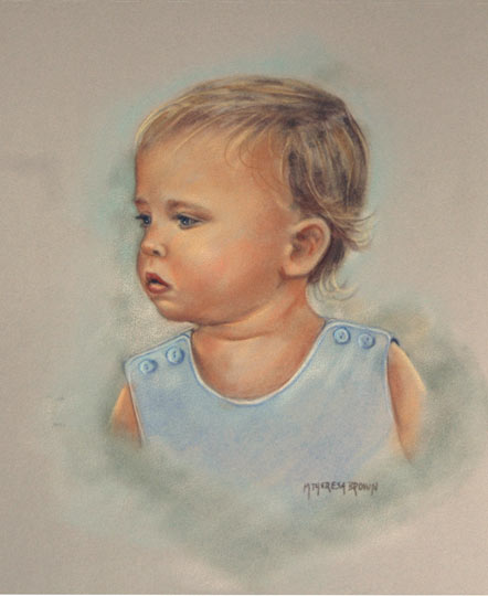Pastel Portrait of Grandson